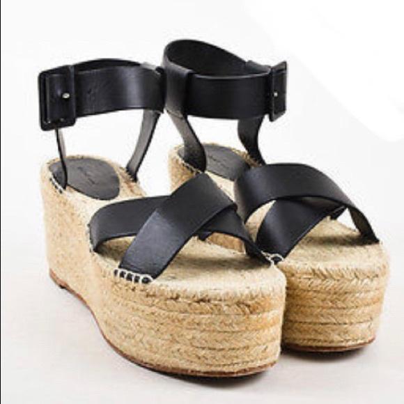 CELINE Criss Cross Platform Sandal 80, black, 9